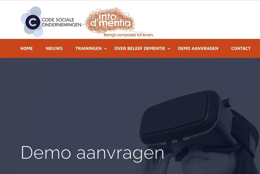 Demo's van de VR dementie simulatie